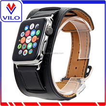 Top quality for apple watch leather straps custom smart watch band 2016 hard waterproof watch straps