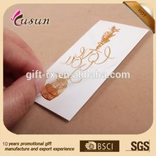 samples free supply custom metallic flash temporary tattoo