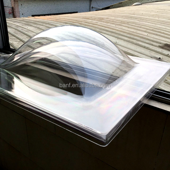 400---2100MM PC \ PMMA Triple layer polycarbonate lighting dome for roof lighting