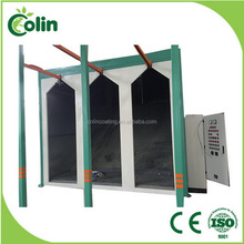 Fast color change new style wire rolling mesh powder coating line
