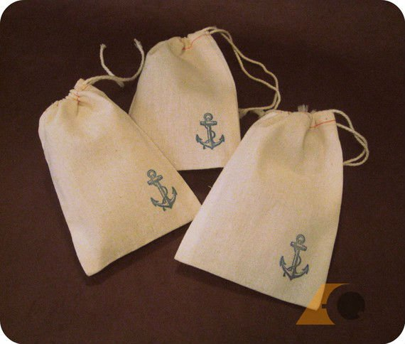 Wedding Favour Drawstring Bag with Printing