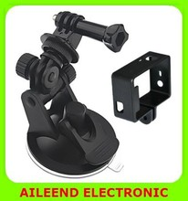 for GoPro HERO4 /3+ /3 2 in 1 Suction Cup Mount + Frame Mount Set