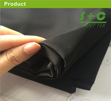 Black stretch fabric for tension pop up display decorated flame retardant german DIN 4102 B1