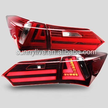 For TOYOTA Corolla LED Tail light Altis Rear Lamps Red White Color 2014-2015 Year YZ