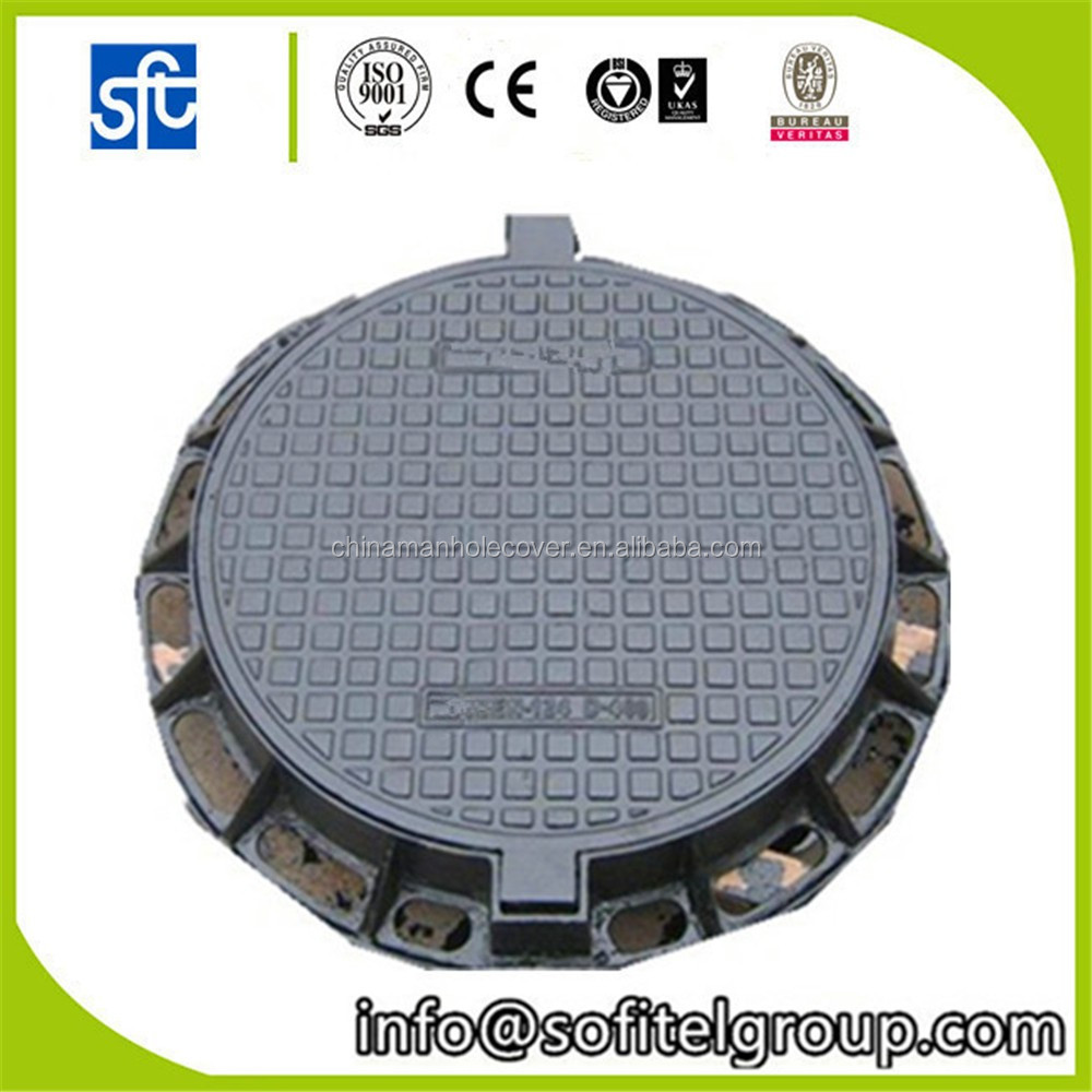 Ductile iron Manhole Cover round locking sewer covers
