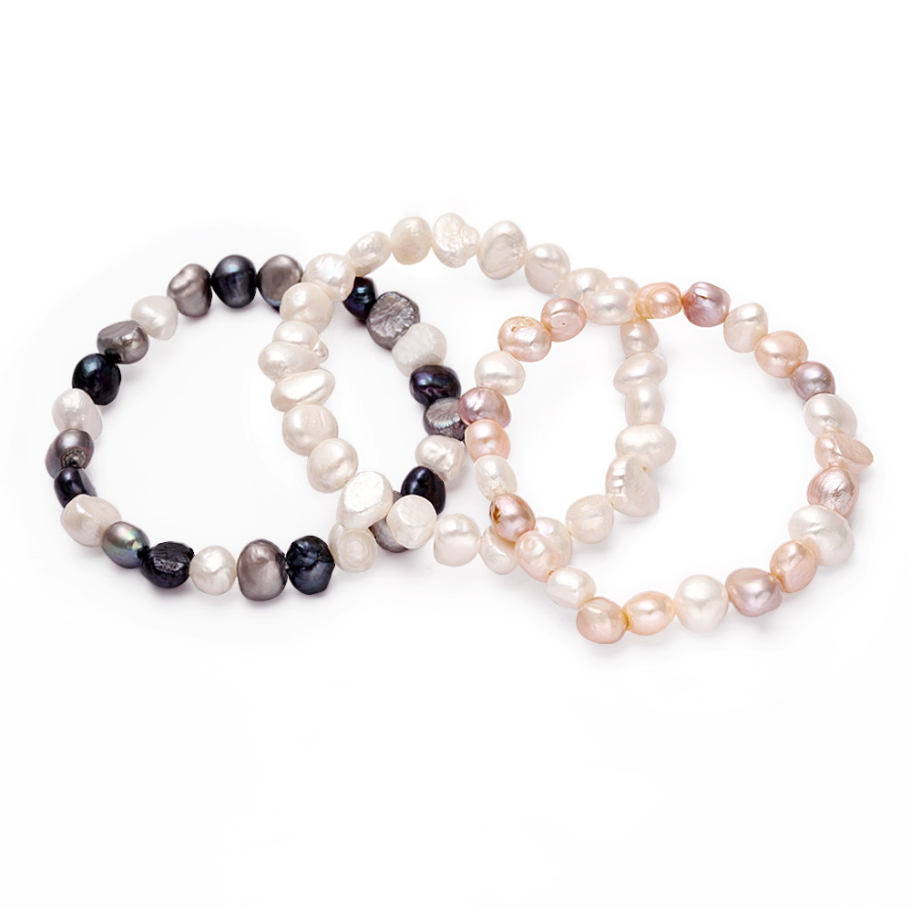 Hot Newest Fashion High Quantity Handmade Irregular Freshwater Pearl Bracelet For Girls