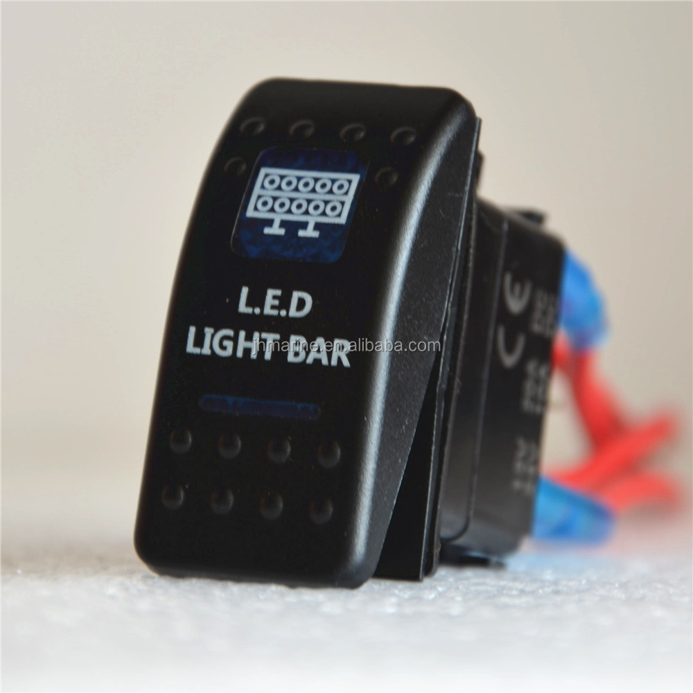 12 Volt 5Pin Carling Type Rocker Switch Led Light Bar Rocker Switch Waterproof Lighted Rocker Switch Wiring Diagram on