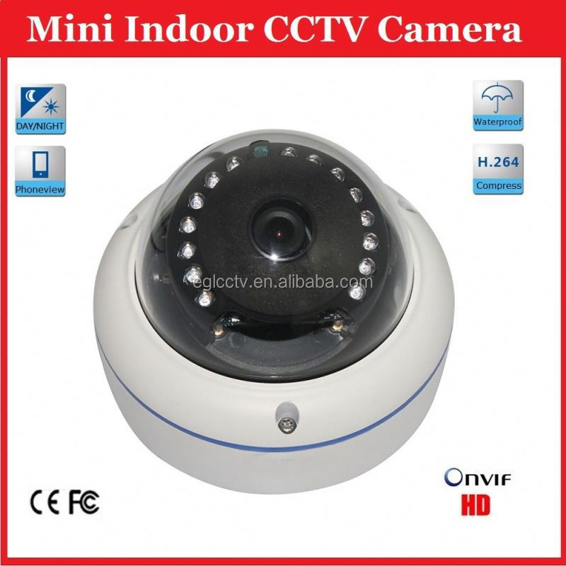 1.3MP Waterproof Mini Live Hi Focus Ir Indoor Vandalproof Ir Dome Camera with 15PCS IR Leds 30M Night Vision