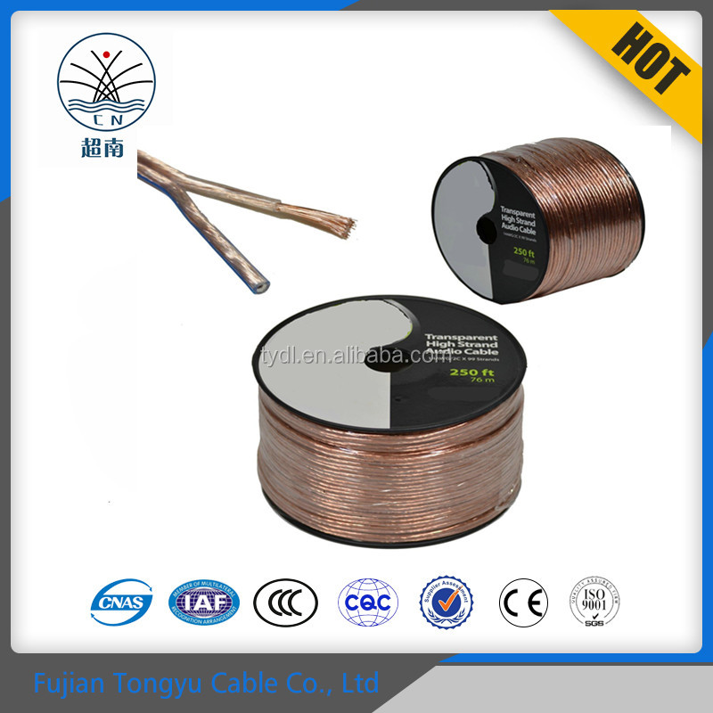 Wholesale Amazon Best Seller Copper wire Flexible Speaker wire for audio home use