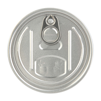 73mm 300 Full Open Aluminum Easy Open End Cap For Dry Food