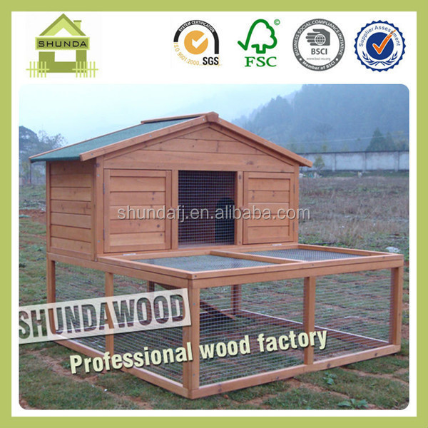 SDR06 Waterproof outdoor wooden rabbit hutch / rabbit house / rabbit cage