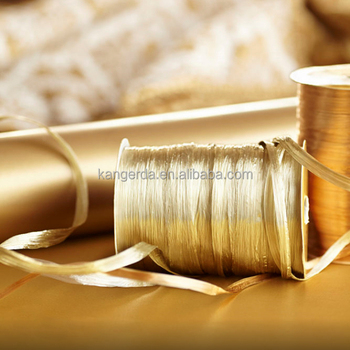Metallic Paper Raffia Ribbon Cord Rope for Wrapping