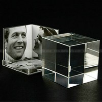 Acrylic Photo Cube Picture Block, 5 Sided Lucite Photo Frames, Perspex Picture Holders