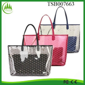 Hot New Products for 2014 Fashion Clear Promotional PVC Beach Bag