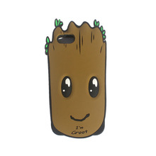 Factory manufacturer 3d cartoon monster design silicone cell phone case