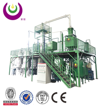Automatic operate system used engine oil recycling to base oil refinery