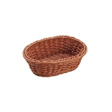 PP Rattan Oval Brown Basket for Storage of Bread and Fruits