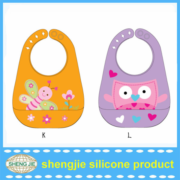OEM New design fancy and soft silicone baby bibs from Shengjie Factory