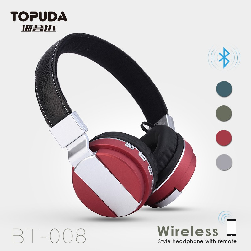 Factory wholesale directly noise isolating wireless bluetooth headset for mp3 player