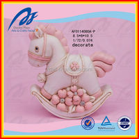 Cute Small Rocking Horse Baby Resin Crafts