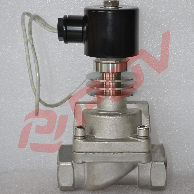 Thread and flange connection 2 way High temperature solenoid valve