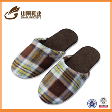 High quality plaid slipper shoes women indoor slipper