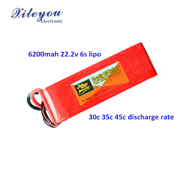 Nano Tech 6S 6200mAh 30c Max 60 lipo/polymer battery 22.2V for RC Helicopter