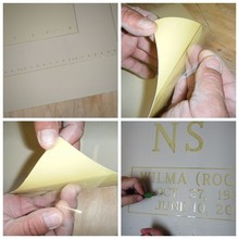 Custom Die-cut Rubber Stencil Thin Sandblast Stencil Adhesive Sticker from China