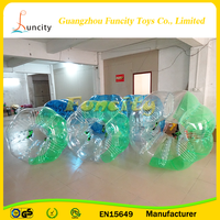 PVC/TPU material Transparent or colorful inflatable bumper ball,bubble soccer,bubble ball for football