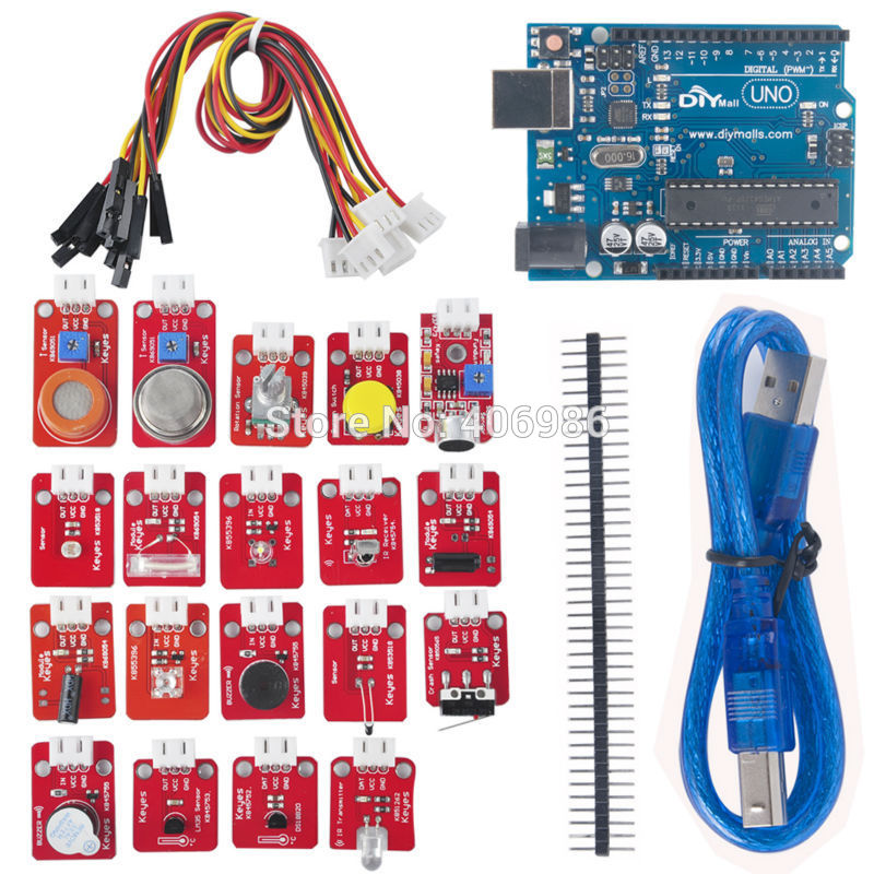 Electronic Building Blocks DIY Learning Kit for Sensor Module Cable FZ0594 Freeshipping Dropshipping
