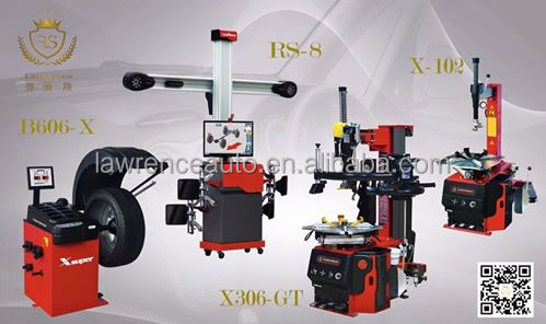 wheel alignment and wheel balancing machine and tyre changer for garage equipment