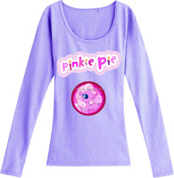 pinkie pie print style plain slim fit t shirt long sleeves ladies new design fancy girl long sleeve t shirt