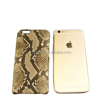 OEM ODM for iPhone Phone Case Python Snakeskin Real Leather for iPhone 6 Case
