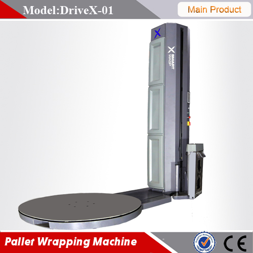 Good quality automatic pallet stretch wrapping machine with automatic cutting function Siemens spare parts