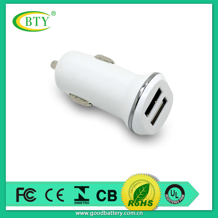 In Stock! Dual 2 USB Port Car Charger White Distributor Reseller Opportunities