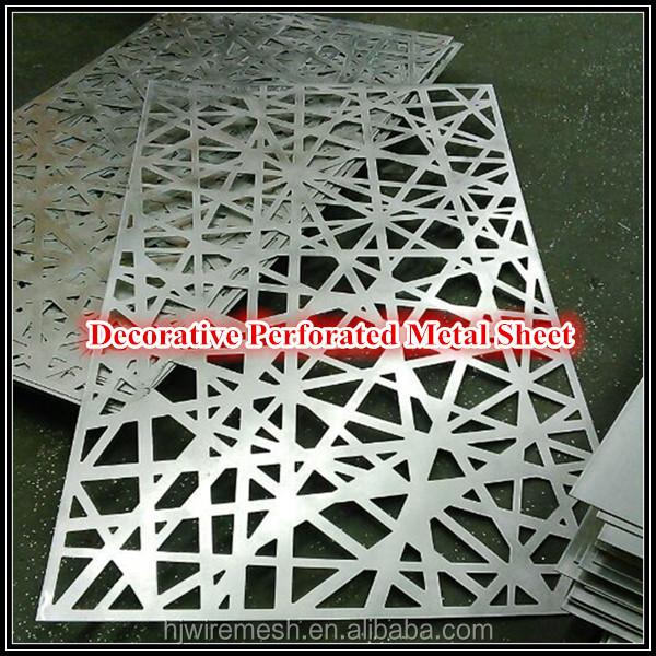 Super Décorative découpe laser aluminium métal perforé panneaux d'écran  JN78