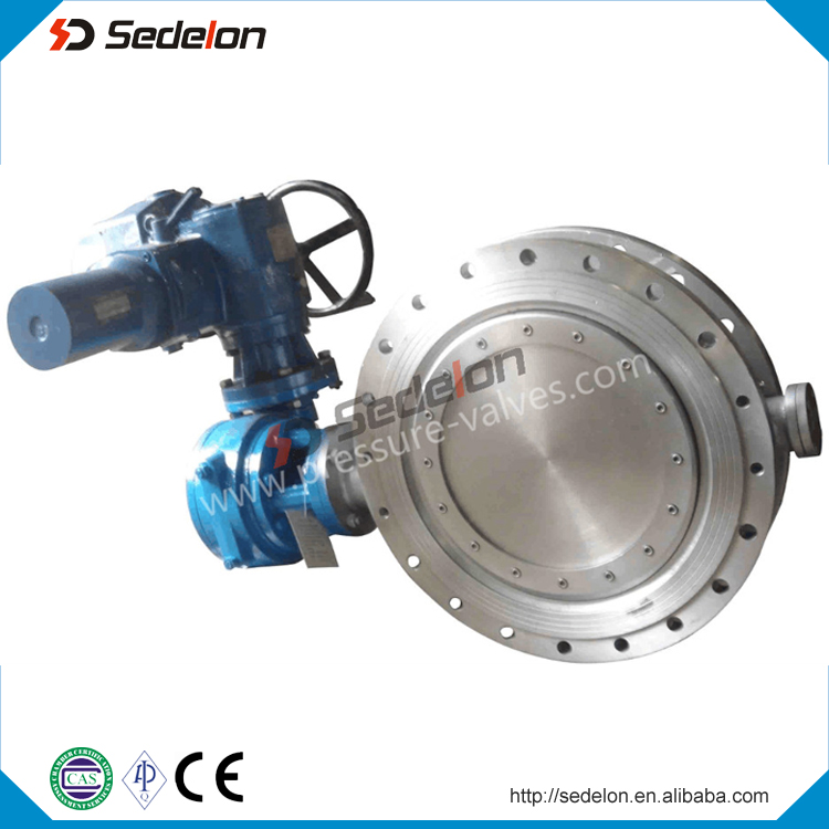 Api609 Double Flanged Electric Motorized Butterfly Valves