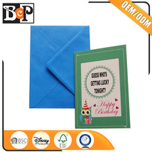 Sample Colored Paper Envelope Decorating Handmade Birthday Greeting Card Designs For Whoesale