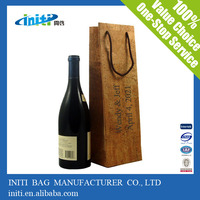 Wholesale factory fabric wine bottle gift bag