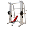 Professional Indoor Gym fitness equipment smith machine with weight bench AMA-8802B