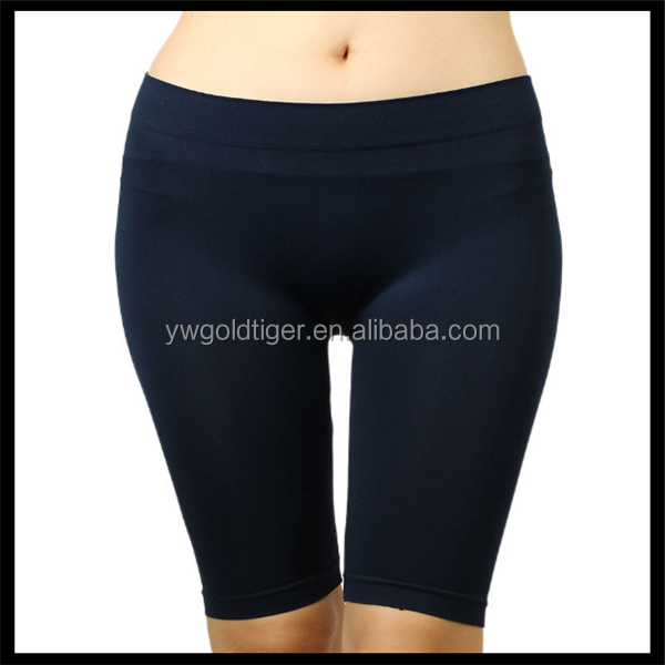 Seamless Solid Stretch Shorts Spandex Leggings Yoga Biker Exercise black color