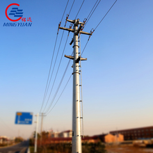 electric power galvanied steel poles