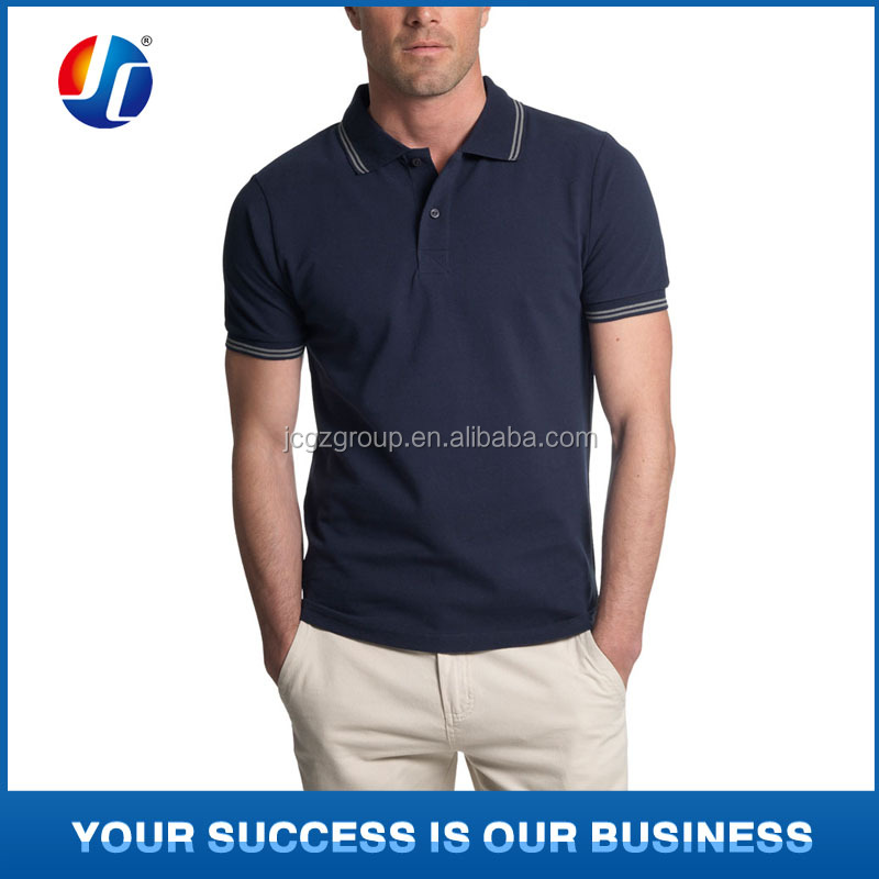 Navy Men's Pique Cotton Polo Shirt