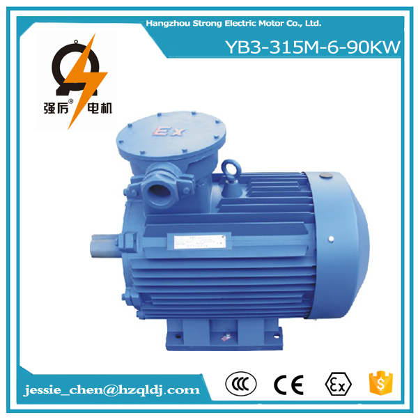 90kw coil unit three phase explosion proof motor for welling fan made in China