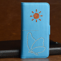 China suplier manufacture leather wallet phone case for iphone 6