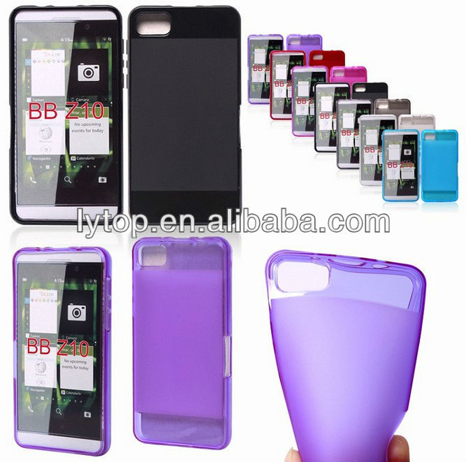 For Blackberry Z10 Transparent Colorful TPU Case