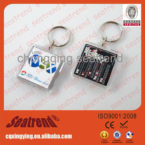 Professional Manufacturer Customized Designs Ideal Gift Keychain Quadrate Acrylic Fridge Magnet