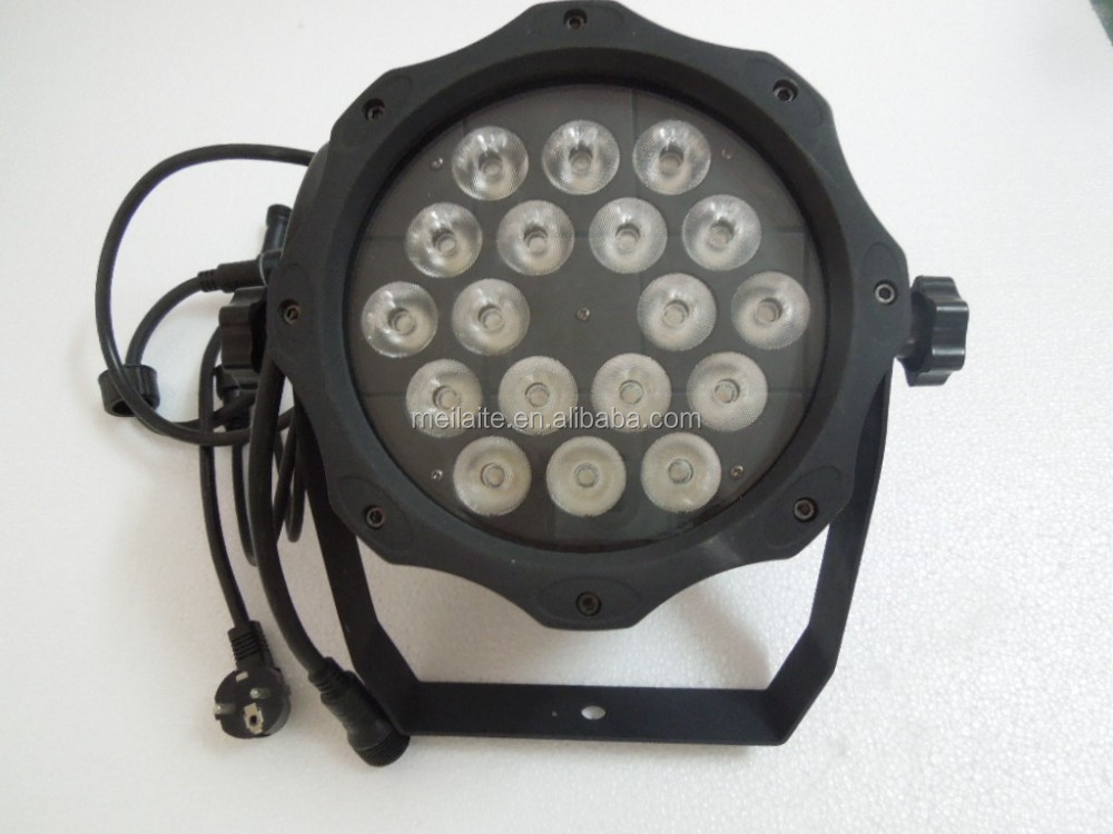 Outdoor wall uplighting 18pcs par led rgbw 10w