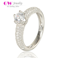 New Model Wedding Silver S925 Cheap Italian Rings With Clear Cz