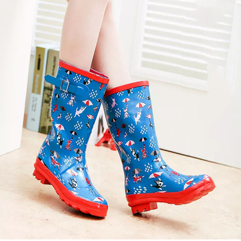 kids shoes cute girls animal rain boots